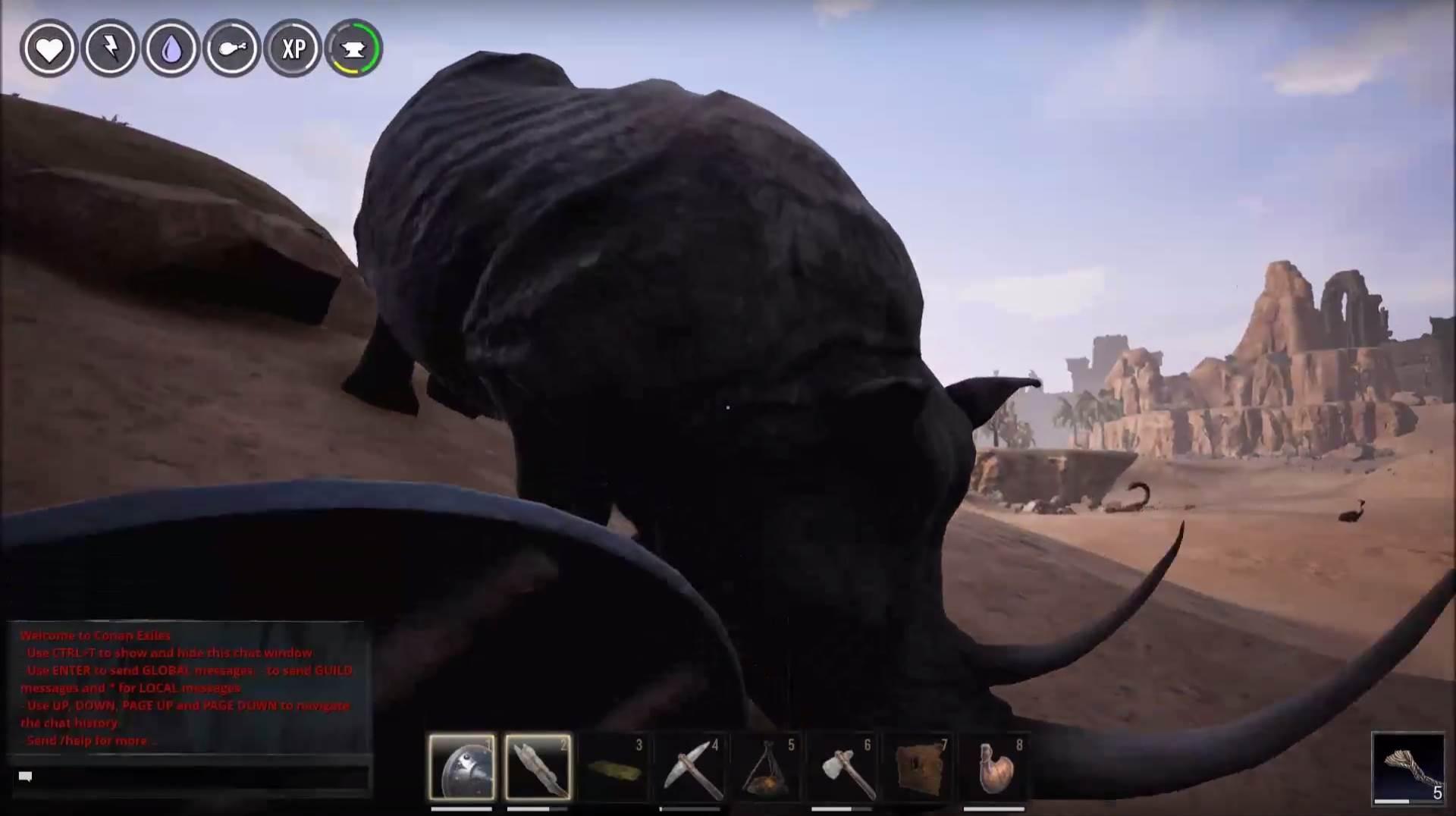 Conan Kletterausrüstung : Conan exiles u schwarzes rhino nerdenthum